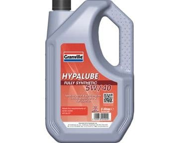 ADV932 0492 Granville Hypalube Fully Synthetic 5W/40  5 Litre A3/B3