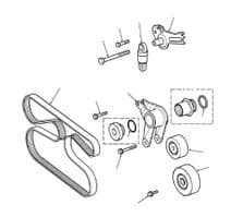 AUXILIARY DRIVE BELT & TESNSIONERS