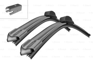 LR076848 + LR033023 Bosch A113S Pair Wiper Blades 500mm + 600mm To VIN HA999999