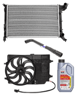 Radiator, Fan, Header Bottle & Hoses
