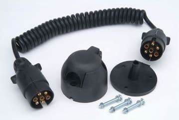 RCC120N 12N Pre-wired Detachable Coiled Cable and 2 Plugs