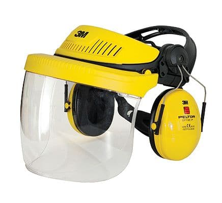 3M G500 Peltor Headgear Protection Combination inc Face Shield and Ear Muffs