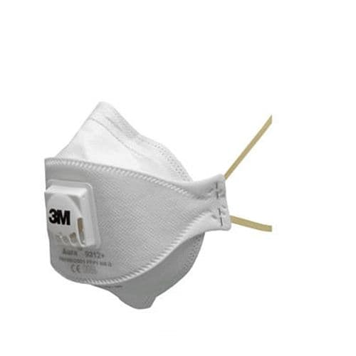 3M Aura 9312+ Valved Dust and Mist Disposable Respirator FFP1 (pack of 10)