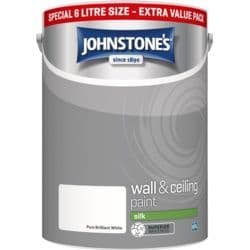 Johnstones Retail Emulsion Vinyl Silk Brilliant White 6L