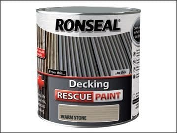 DISCONTINUED Ronseal Decking Rescue Paint Warm Stone 2.5 Litre