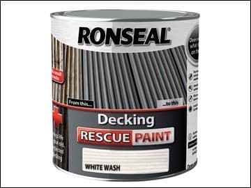 DISCONTINUED Ronseal Decking Rescue Paint White Wash 2.5 Litre