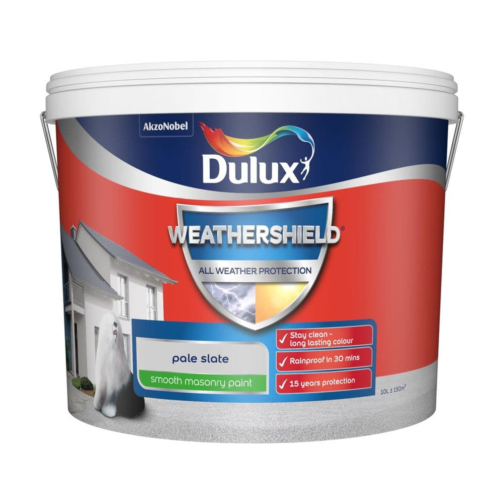 Dulux Weathershield All Weather Protection Smooth Masonry Paint 10L