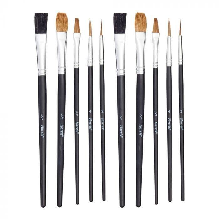 Harris Seriously Good Artist Brushes, Pack of 10