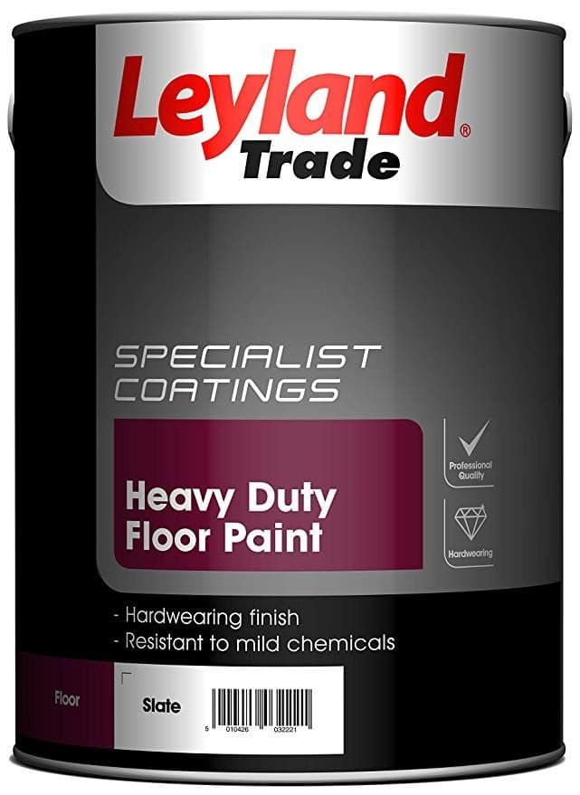 Leyland Trade Heavy Duty Floor Paint Standard Colours 5L