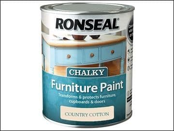 Ronseal Chalky Furniture Paint Country Cotton 750ml