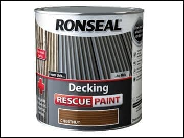 Ronseal Decking Rescue Paint Chestnut 5L DISCONTINUED