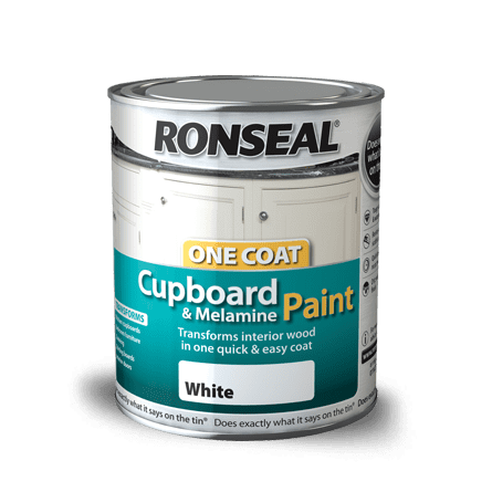 Ronseal One Coat Cupboard Melamine & MDF Paint 750ml