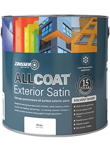Zinsser AllCoat Exterior SB Satin Standard Colours