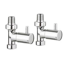 Crosswater Angled Radiator Valves Chrome RADVS1-CP