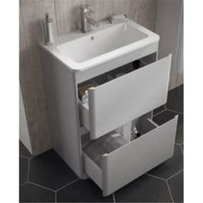 HIB Novum Reveal 600mm Floor Standing Unit And Basin Anthracite N13FS60ANTH + N13WB60REC