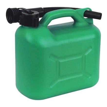 Green Plastic Fuel Can 5 Litre