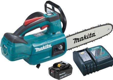Makita DUC254RT 18v LXT Top Handle Chainsaw 25cm