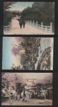 3 Old collectable postcards JAPAN  #247