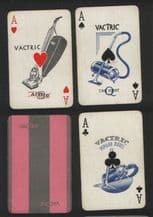 Advertising collectible playing cards Vactric. circa 1930's,
