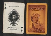 Advertising  playing cards Gold Flake cigarettes