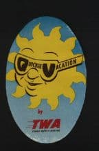 Airline label luggage labels TWA  #295