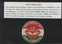 Airline luggage label   Air-Express of Railway Express #559