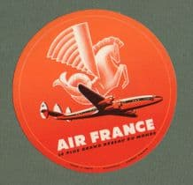 Airline luggage label Air France #179