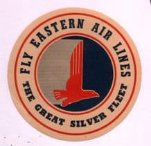 Airline luggage label  Eastern Airline style 3  #714