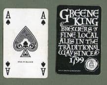 Beer Advertising Greene king fine ales playing cards