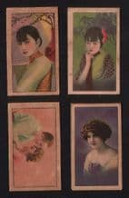 Chinese beauties  Tobacco cigarette cards CHINA