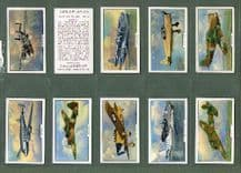 cigarette cards Aeroplanes ,Spitfire,Hurricane,Empire Flying Boat