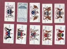 Cigarette cards Arms of Companies, Ironmongers, Clothworkers ,