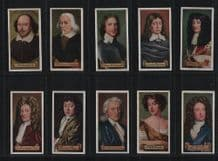 Cigarette Cards Celebrities of British History 1935