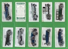 Cigarette cards set Motor cars Waverley Dodge Cadillac Talbot Riley Renault