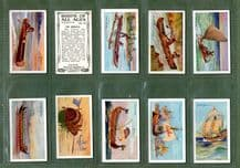 Cigarette cards set Ships of all ages 1929, Chinese Junk, Siamese Family Boat,
