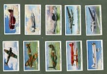 "Cigarette cards set Speed 1930, TT Race,""Blue Bird"",""The Spirit of St Louis"""