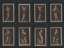 Cigarette cards set women  in bathing costumes 1930 photographic