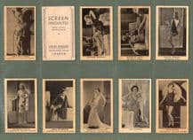 Cinema/film Cigarette cards Screen Favorites from actual photographs 1937 set