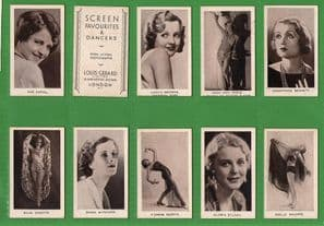 Cinema/film Cigarette cards Screen Favourites & Dancers set