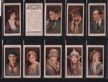 Cinema Stars 1928 First series of 25 cigarette cards