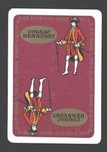 Collectable advertising playing cards. Hennesy Cognac