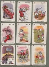 Collectable Antique Cards game Jungle Jinks, elephants, etc