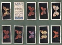 Collectable Cigarette cards British Butterflies 1927 set