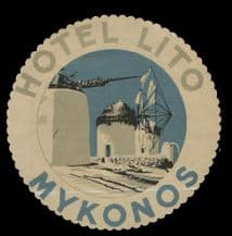 Collectable Hotel label GREECE luggage labels baggage #020