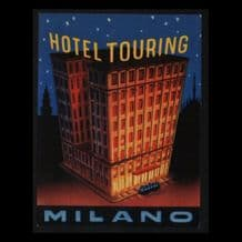 Collectable Hotel label luggage labels ITALY Milano #179