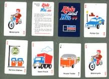 Collectable playing cards and cards game  Ride & Win, advertising Ford Mercury