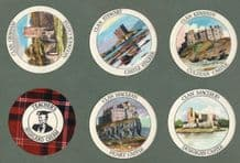Collectable TRADE cards set Scottish Clans & Castle by Teachers Whisky
