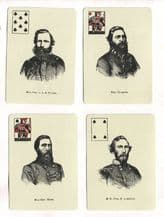 Collectable vintage playing cards Confederate Generals