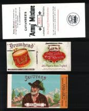 Collectible 3 OLD Cigarette packet labels  # 896