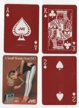 Collectible Advertising pin-up  playing cards JVC.